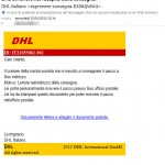 """Una """"finta"""" email dal corriere DHL ci reindirizza ad un sito con Trojan"""